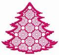 Lace fir tree embroidery design