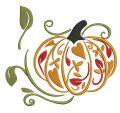 Fancy pumpkin embroidery design