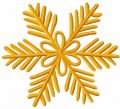 Gold snowfale embroidery design
