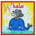 Whale 2 embroidery design