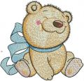 Bear toy embroidery design