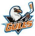 San Diego Gulls logo embroidery design