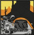 Retro Moto Racing Vintage label embroidery design