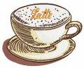 Latte 2 embroidery design