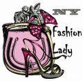 NY fashion lady embroidery design