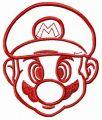 Mario face embroidery design