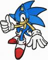 Sonic the Hedgehog 2 embroidery design