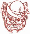 Stylish terrier embroidery design