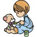 Precious Moments - I Like This Time! embroidery design