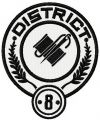 District 8 logo embroidery design