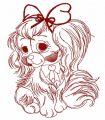 Cute English Cocker Spaniel 3 embroidery design
