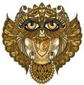 Owl granny embroidery design