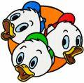 Friends ducks embroidery design