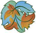 Swirl foliage embroidery design