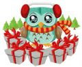 Presents for forest friends embroidery design