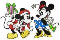 Christmas with Mickey Mouse embroidery design