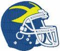 Delaware Blue Hens Helmet embroidery design