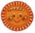 Sun 3 embroidery design