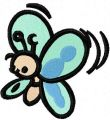 Funny butterfly embroidery design