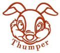 Bambi Thumper embroidery design
