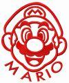 Happy Mario face embroidery design