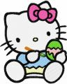 Hello Kitty Ready for Easter  embroidery design