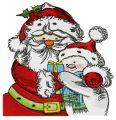 Santa and snowman 2 embroidery design