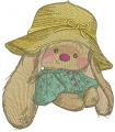 Sad girl Bunny Mi embroidery design