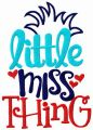 Little Miss Thing embroidery design