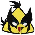 Angry birds yellow 2 embroidery design