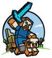 Minecraft warrior embroidery design