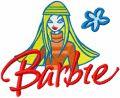 Barbie child's art embroidery design