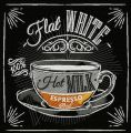 Flat white embroidery design