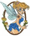 Scared Tinkerbell 3 embroidery design