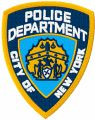 New York City Police department badge embroidery design