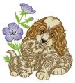 Let's play together embroidery design