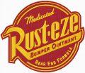 Rust-eze logo embroidery design