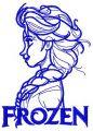 Elsa sketch 7  embroidery design