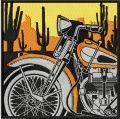 Retro Vintage Moto Racing label embroidery design
