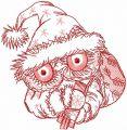 Christmas Santa owl  embroidery design