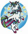 Unicorn's dance at night embroidery design