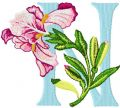 Iris Letter N embroidery design
