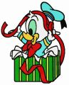 Donald with ribbon 4 embroidery design