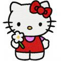 Hello Kitty Good Day embroidery design