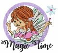 Magic time embroidery design