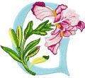 Iris Letter G embroidery design