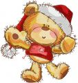 Teddy Happy Christmas time embroidery design