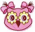 Owl color sketch embroidery design