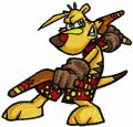 TY the Tasmanian Tiger embroidery design