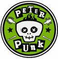 Peter Punk logo embroidery design